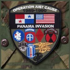 Large Operation Just Cause Patch 1989 Panama Merrowed Edge RANGER SEAL AIRBORNE