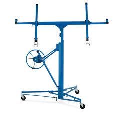 11' Adjustable Drywall Panel Rolling Lifter Tool Hoist Jack Caster Lockable Blue