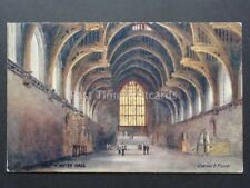 London: Houses of Parliament, Westminster Hall by R. Tuck - Art by C. Flowers