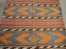 "Unusual Anatolian kilim oriental carpet, runner ( 12ft.4"" x 5ft.1"" )"