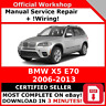 # FACTORY WORKSHOP SERVICE REPAIR MANUAL BMW X5 E70 2006 - 2013 + WIRING