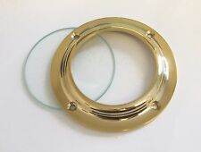 "Canal boat 2.3/4"" brass porthole complete with clear glass              CP001G"