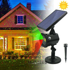 Solar Star Laser Fairy Light Projector Xmas Outdoor Lawn Landscape LED R&G Lamp