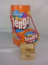 Jenga Original Wood Block Game Parker Brothers 2006 Orange Tube 54 Piece