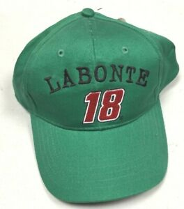 Bobby Labonte 18 Green Youth Hat Strap Back Competitor View NASCAR NWT