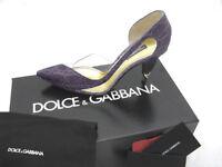 NEW Dolce & Gabbana Genuine Alligator Shoes (Heels)! US 10 e 40  *Purple*