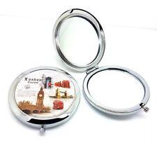 London Souvenirs Folding Handbag Makeup Cosmetic Travel British Pocket Mirror UK