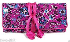Oriental Chinese Silk Jacquard Jewelry Bag Roll Holder Organizer Travel Bag New