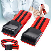 1 Pair Red Blood Flow Restriction Occlusion BFR Tourniquet Training Biceps Bands