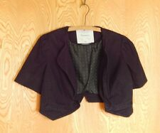 Antropologie CARTONNIER Sz 6 Black Cotton Blend Crop Jacket AWESOME DESIGNER euc