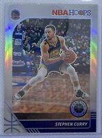 Stephen Curry 2020 Panini Premium Stock NBA Hoops SILVER HOLO Prizm Refractor