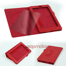 CASE COVER+SCREEN PROTECTOR MAGNETIC POUCH PU LEATHER RED GOOGLE ASUS NEXUS 7""