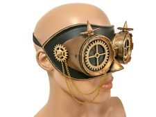 Steampunk Gear Goggles Mask Chain Leather Spike Masquarade Cosplay Haloween