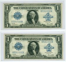 1923 $1 Fascinating Error / Variety Fr 238 Silver Certificates Near Consecutive