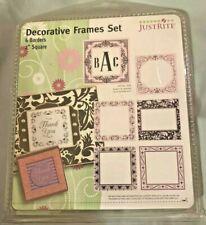 "JustRite Decorative Frames Set 6 Borders 2"" Square Ornate"