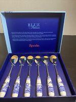 Spode Blue Room Set of 6 Tea Spoons Blue & White Italian Pattern Porcelain New