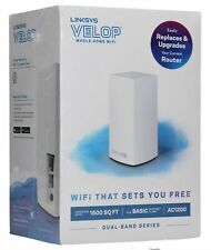 NEW LINKSYS VELOP AC1200 INTELLIGENT MESH 1-PACK WIFI SYSTEM  VLP0101 WHITE