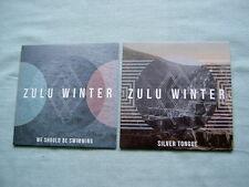 ZULU WINTER job lot of 2 promo CD singles We Should Be Swimming Silver Tongue