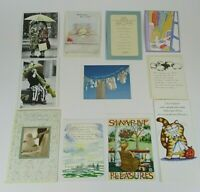 12 PIECE VINTAGE / OOP GREETING CARD LOT MIXED OCCASIONS UNUSED W/ ENVELOPES