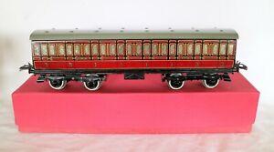 AC1785 :Vintage Hornby O Gauge No.2 LMS Brake 3rd Passenger Coach