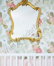 "Ornate Wall Mirror Antique Gold 35"" Arched French Queen Anne Neiman Marcus New"