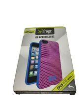 IFROGZ BREEZE CASE FOR APPLE IPOD TOUCH 5TH AND 6TH PINK AND BLUE, NEW OPEN BOX