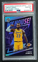 2019-20 Donruss Optic LeBron James Silver Holo Prizm My House PSA 10 GEM MINT