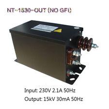 European Core Coil Neon Power Supply 15KV30mA450W Tesla Test Transformer NO GFI
