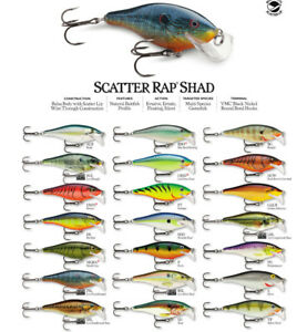 Rapala Scatter Rap Shad // SCRS07 // 7cm 7g Fishing Lures (Choice of Colors)
