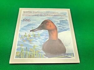 Vintage Postage 1986 Canadian Wildlife Habitat Conservation Stamp Ephemera