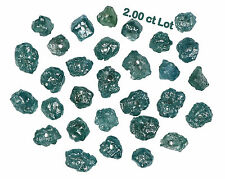 Natural Loose Diamond Blue Color Rough Drilling Bead 2.00 Ct Lot I3 Clarity NQ31