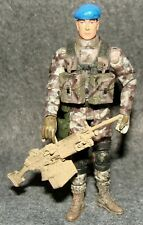 1:18 BBI Elite Force  U.S United Nation Peace M240 Machine Gunner Action Figure