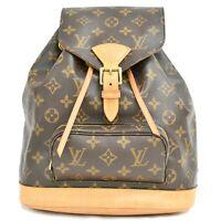 Authentic Louis Vuitton Monogram Backpack Daypack Bag Montsouris MM France LV