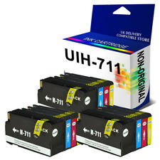 12 Generic Chipped Ink 711 for use in hp Designjet T120 T520 Printer