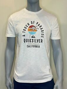 Quiksilver - T Shirt - Mens - Quiet Hour - White - Surf Clothing - Tee