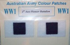 AIF WW1 AUSTRALIAN ARMY COLOUR PATCHES - ANZAC PAIR REPRODUCTION