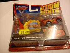 MATTEL CARS 2 ACTION AGENTS FLASH / LIGHTNING MCQUEEN V SET