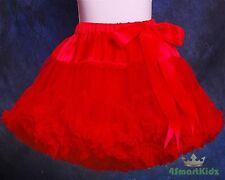 Red Girl Tulle Pettiskirt Dance Party Skirt Size 3-4