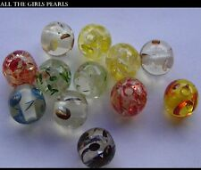 *CLEARANCE*24 Transparent Inner Colour  Resin Beads. Round 11-12mm.*CLEARANCE*