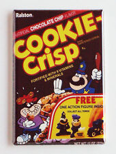 Cookie Crisp FRIDGE MAGNET (2 x 3 inches) cereal box chocolate breakfast 80's