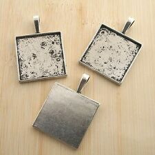 4pcs antiqued silver square photo frame G1031