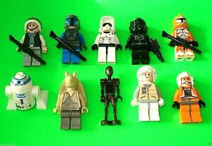 ### 10 LEGO STAR WARS FIGUREN TROOPER - DROIDEN - R2-D2 - JAR JAR BINKS ### =TOP