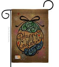 New listing Colourful Happy Easter Egg Burlap-Impressions Decorative Garden Flag G192022-Db
