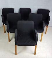 Ikea 6 Stühle Schwarz Ekhard wie Nils Holz Metall Bezug Küche Sessel Esszimmer