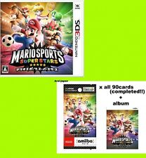 amiibo card Mario Sports Super Stars x all 90 completed album 3ds game Japan