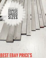 Stainless Steel Grade 304 Flat Bar Sold in 100mm Lengths cut to size **