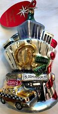 2007 Christopher Radko Ornament City Scene 59th & Lex Bloomingdale Christmas NWT