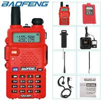BAOFENG UV-5R VHF UHF Dual Band Two Way Ham Radio Transceiver Walkie Talkie RED