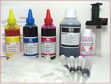600  ml Kit ricarica cartucce HP inkjet. hp 62 nere e 62 colore  + refill clip
