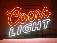 "Coors Light Neon Light Sign 20""x16"" Beer Gift Bar Lamp Glass Decor"